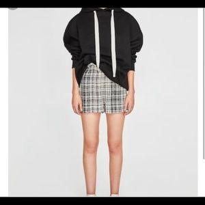 NWT Zara Check Bermuda Shorts